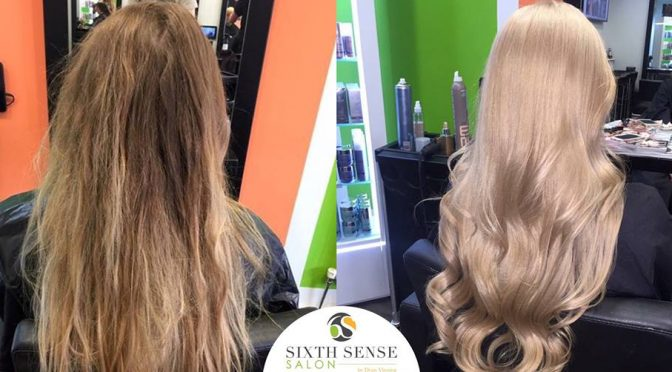 blonde hair colour transformation, sutton coldfield hair salo