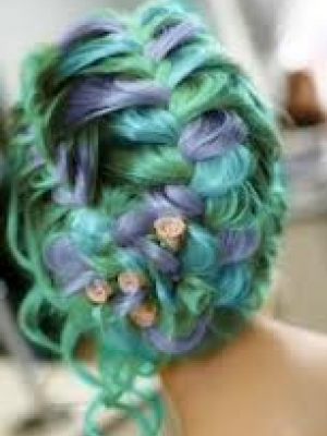 green-pastel-braided-hair