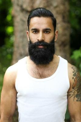 full-beard-with-slicked-back-hair